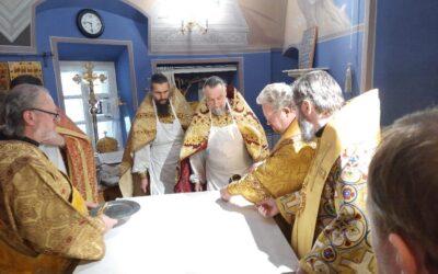 Соборное архиерейское богослужение и обновление Казанского скита.