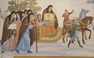 Еще фрески и иконостас Коневского скита, что на берегу острова