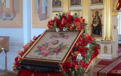Письмо сестёр Иоанновского монастыря о вышитой трудами инока Коневской обители иконе Спаса Нерукотворного